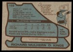 1979 Topps #133  Richard Mulhern  Back Thumbnail