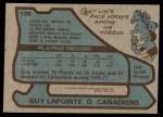 1979 Topps #135  Guy Lapointe  Back Thumbnail