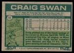 1977 Topps #94  Craig Swan  Back Thumbnail