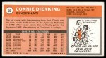 1970 Topps #66  Connie Dierking   Back Thumbnail