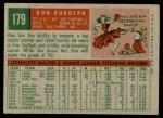 1959 Topps #179  Don Rudolph  Back Thumbnail