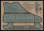 1979 Topps #39  Peter McNab  Back Thumbnail