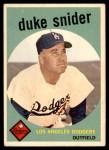 1959 Topps #20  Duke Snider  Front Thumbnail