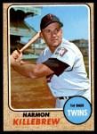 1968 Topps #220  Harmon Killebrew  Front Thumbnail