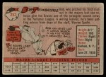1958 Topps #252  Bob Trowbridge  Back Thumbnail