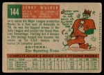 1959 Topps #144  Jerry Walker  Back Thumbnail