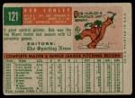 1959 Topps #121  Bob Conley  Back Thumbnail
