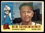 1960 Topps #335  Red Schoendienst  Front Thumbnail