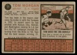 1962 Topps #11  Tom Morgan  Back Thumbnail