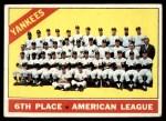 1966 Topps #92   Yankees Team Front Thumbnail