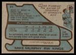 1979 Topps #31  Mike Murphy  Back Thumbnail