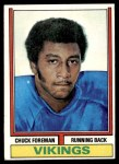1974 Topps #113 ONE Chuck Foreman  Front Thumbnail