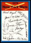 1973 Topps Blue Checklist   Mets Front Thumbnail
