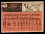 1966 Topps #198  Mickey Stanley  Back Thumbnail