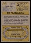 1974 Topps #111 ONE Ed Flanagan  Back Thumbnail