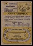 1974 Topps #131   -  Larry Csonka All-Pro Back Thumbnail
