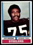 1974 Topps #40  Joe Greene  Front Thumbnail