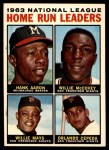 1964 Topps #9   -  Hank Aaron / Willie Mays / Orlando Cepeda / Willie McCovey NL HR Leaders Front Thumbnail
