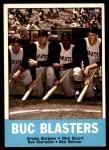 1963 Topps #18   -  Roberto Clemente / Bob Skinner / Smoky Burgess / Dick Stuart Buc Blasters   Front Thumbnail