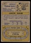 1974 Topps #137   -  Jack Ham All-Pro Back Thumbnail