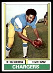 1974 Topps #307  Pettis Norman  Front Thumbnail