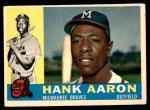 1960 Topps #300  Hank Aaron  Front Thumbnail
