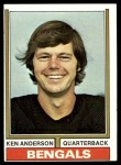1974 Topps #401  Ken Anderson  Front Thumbnail