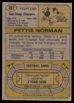 1974 Topps #307  Pettis Norman  Back Thumbnail