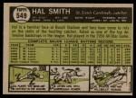 1961 Topps #549  Hal R. Smith  Back Thumbnail