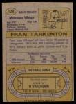 1974 Topps #129   -  Fran Tarkenton All-Pro Back Thumbnail