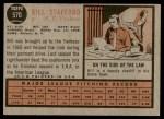 1962 Topps #570  Bill Stafford  Back Thumbnail