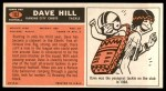 1965 Topps #102  David Hill  Back Thumbnail