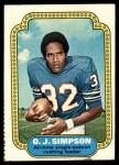 1974 Topps #1   -  O.J. Simpson  Record Breaker Front Thumbnail