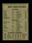 1971 Topps #357   Reds Team Back Thumbnail
