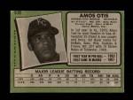 1971 Topps #610  Amos Otis  Back Thumbnail