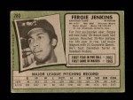 1971 Topps #280  Fergie Jenkins  Back Thumbnail