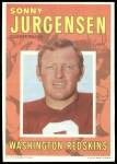 1971 Topps Posters #17  Sonny Jurgensen  Front Thumbnail