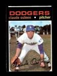 1971 Topps #10  Claude Osteen  Front Thumbnail