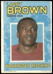 1971 Topps Posters #32  Larry Brown  Front Thumbnail
