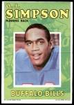 1971 Topps Posters #13  O.J. Simpson  Front Thumbnail