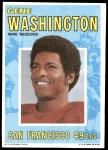 1971 Topps Posters #1  Gene Washington  Front Thumbnail