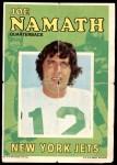 1971 Topps Posters #4  Joe Namath  Front Thumbnail