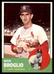 1963 Topps #313  Ernie Broglio  Front Thumbnail