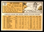 1963 Topps #297  Jim Golden  Back Thumbnail