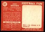 1958 Topps #62  Jim Brown  Back Thumbnail
