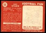 1958 Topps #66  Bart Starr  Back Thumbnail