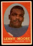 1958 Topps #10  Lenny Moore  Front Thumbnail