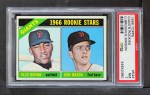 1966 Topps #524   -  Ollie Brown / Don Mason Giants Rookies Front Thumbnail