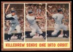 1962 Topps #316   -  Harmon Killebrew Sends One Into Orbit Front Thumbnail