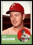 1963 Topps #341 DOT Jack Baldschun  Front Thumbnail